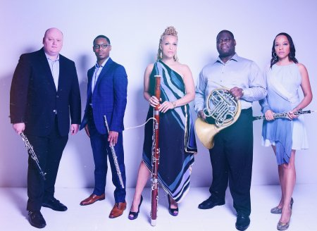 The five members of Imani Winds