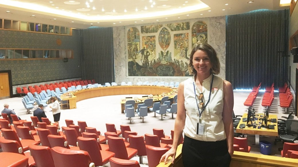 Amy Mendenhall at the UN