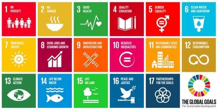 Pictoral representation of the 17 United Nations Sustainable Development Goals