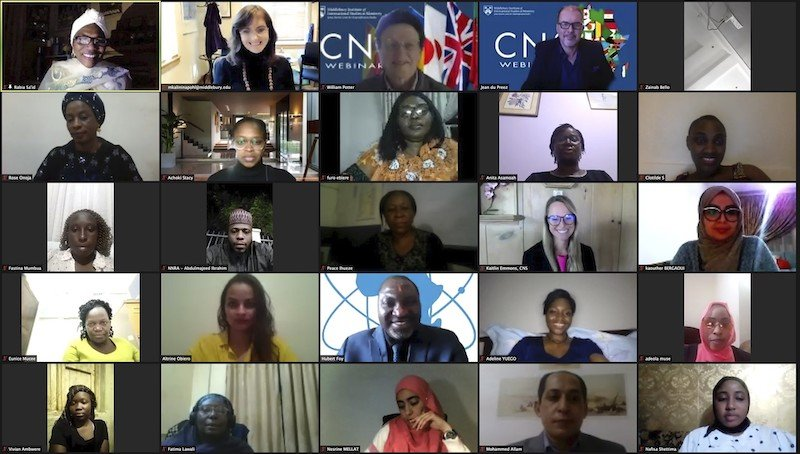 Screenshot of CNS course Women in STEM