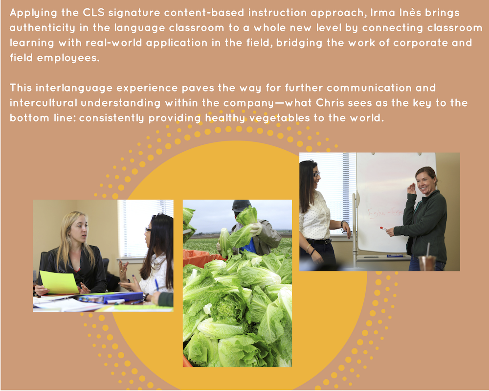 CLS's content-based instruction brings authenticity to the language classroom