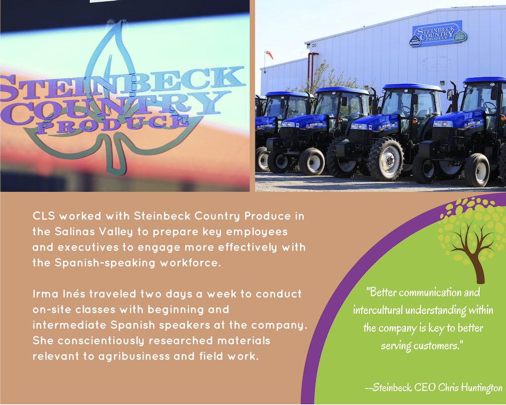 Steinbeck Country Produce ad CLS prepare employees
