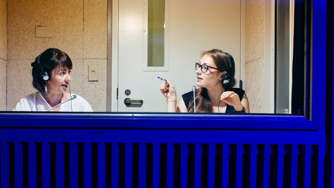 Interpreters in booth