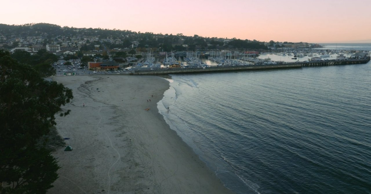 An evening view from one of Monterey's many beaches.