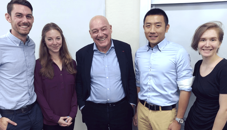 Vladimir Pozner and Students