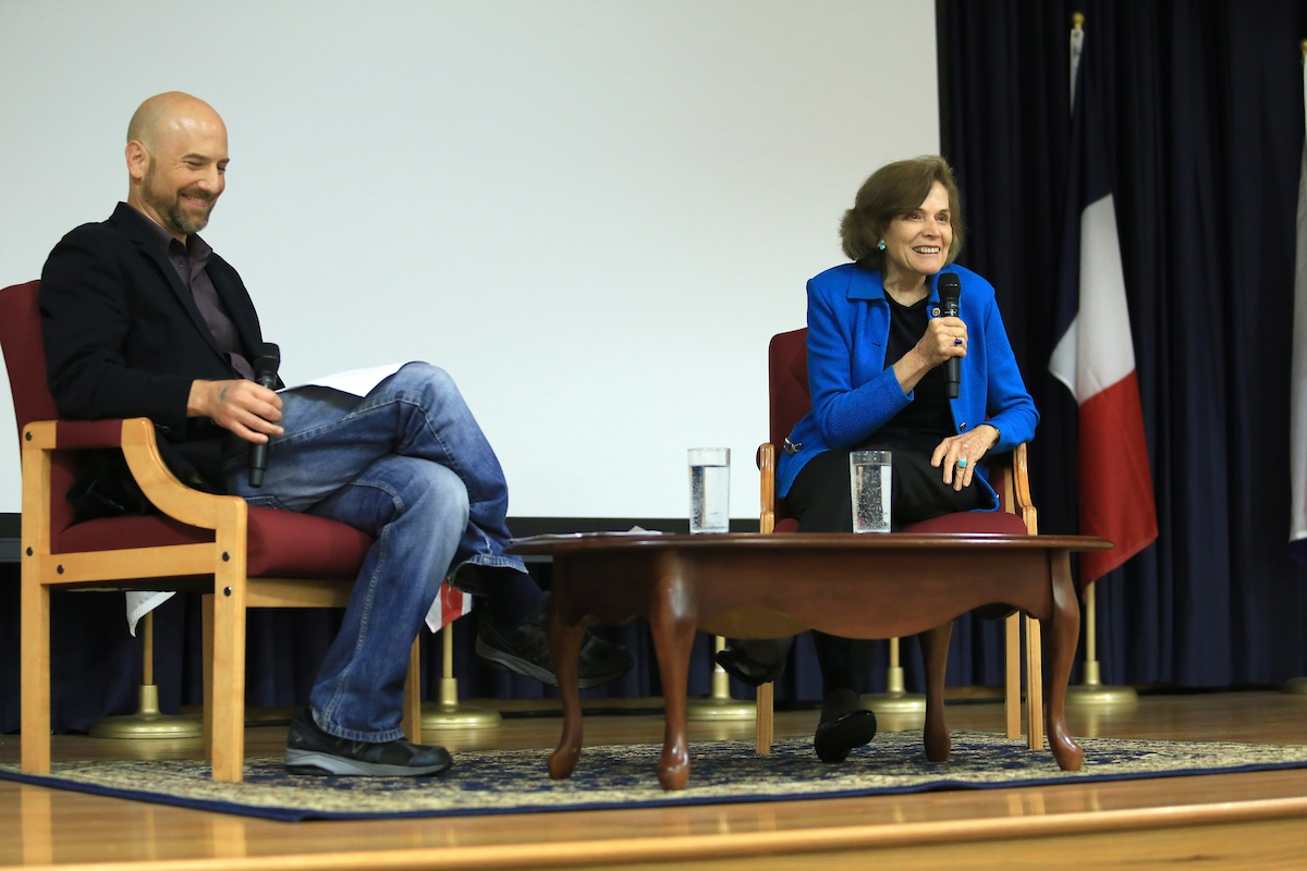 Jason Scorse and Sylvia Earle, panel discussion following a screening of Mission Blue, October 21, 2015