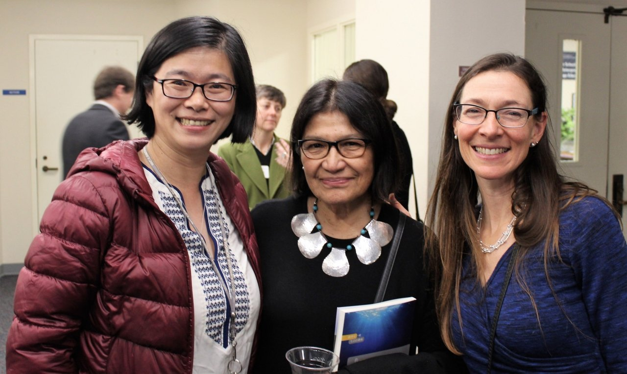 Director of Teacher Professional Development at WestEd, Aida Walqui with MIIS faculty Laura Burian and Jinhuei Dai at the Leo van Lier memorial event