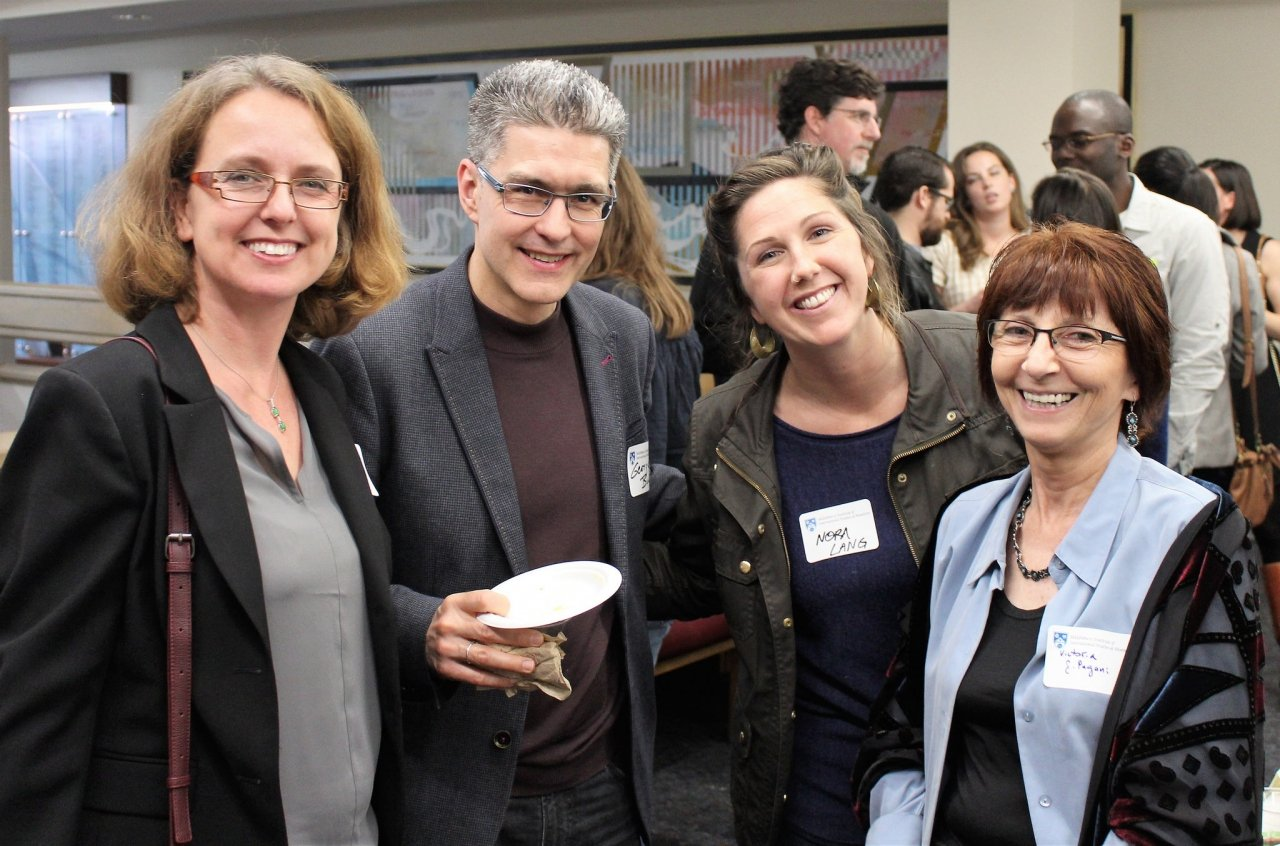 Language faculty from UCSC, Eve Zyzik, George Bunch, Nora Lang, and Victoria González-Pagani at the Leo van Lier Memorial Event (Feb 2017)