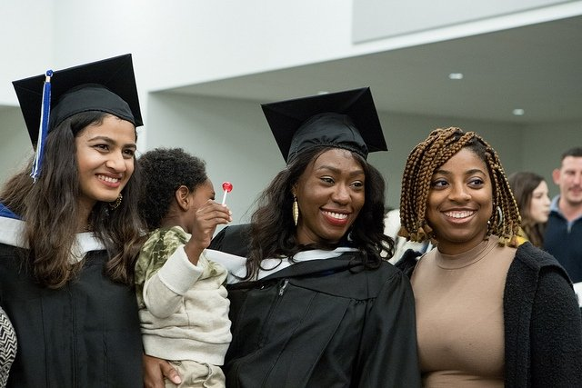 Friends at the winter commencement 2018