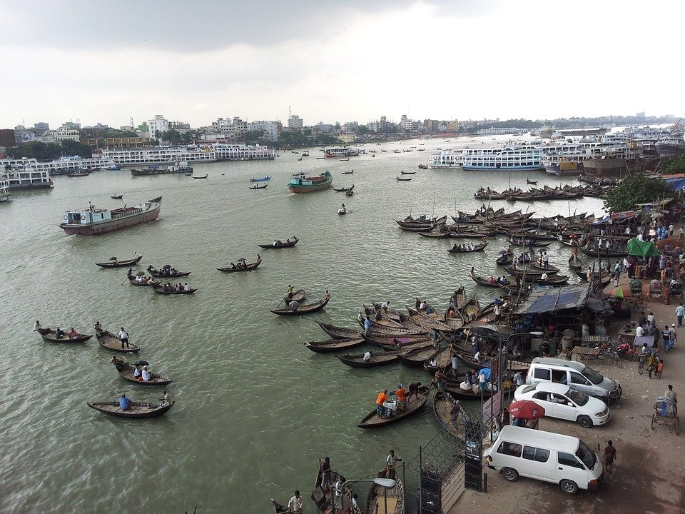 Dhaka, capital and largest city with industrial port, Bangladesh