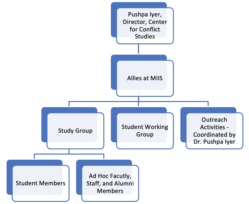 Diagram of Allies at MIIS structure