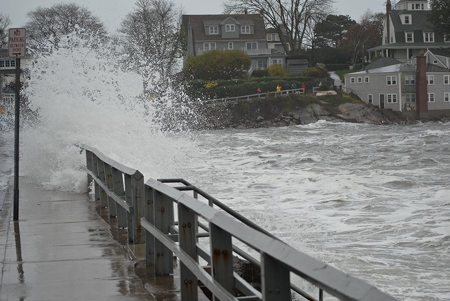 Hurricane Sandy Marblehead Massachusets