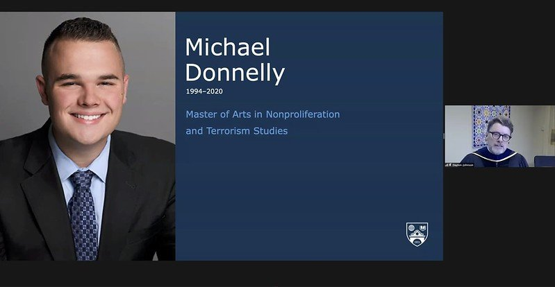 Michael Donnelly posthumous degree slide