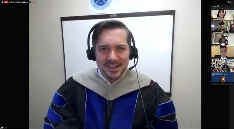 Thor Sawin at 2020 virtual winter commencement