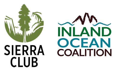 Sierra Club and Inland Ocean Coalition logos