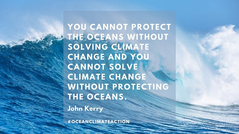 You cannot protect the oceans without solving climate change, and you cannot solve climate change without protecting the oceans--John Kerry