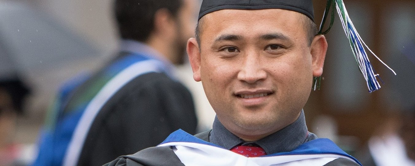 Male graduate at 2019 Commencement