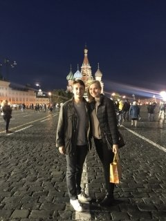 Lennox Atkinson and Annelise Plooster in the Red Square