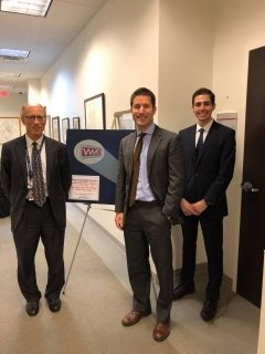 Standing at left: Dr. Gerald Epstein, MA NPTS student Cyrus Jabbari, and Associate Professor Philipp C. Bleek at the Center for the Study of WMD.