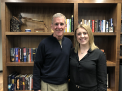 Retired General McChrystal with MIIS student Kate Simi