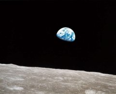 Earthrise photo taken in 1969 from Apollo 8