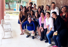 Group photo with Professor George Henson in Cuba