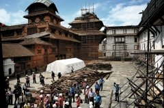 Earthquake damaged building in Nepal