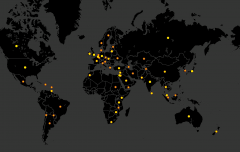 Map of worldwide biological attacks (1990 - 2005)
