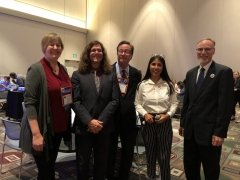 Daniel Chatham, Chris McShane, Katherine Punteney, and David Wick, joined by MIIS student Alexandra Ramos Lopez (IEM '20