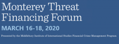 Monterey Threat Financing Forum 2020 logo