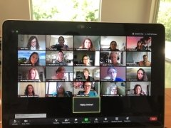 Screenshot of Zoom session on Challenging Racism and Bigotry