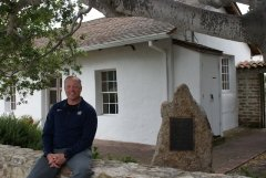 LTC James Harwell outside the Lara Soto Adobe