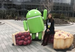 Certified court interpreter, Jessie Liu, outside the Google campus.