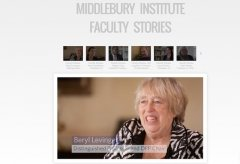Faculty Stories Graphic with Professor Beryl Levinger