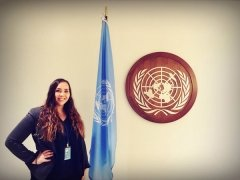 Elin Orre at the UN