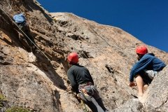 Rock Climbers on Mountain