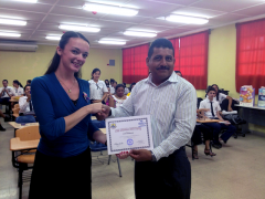 Katie Barthelow in Panama with Teacher Juan Aizprua