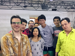 Matt Levie with student group in Kyrgyzstan