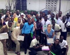 MIIS Alumnae at Graduation with Teachers in Haiti