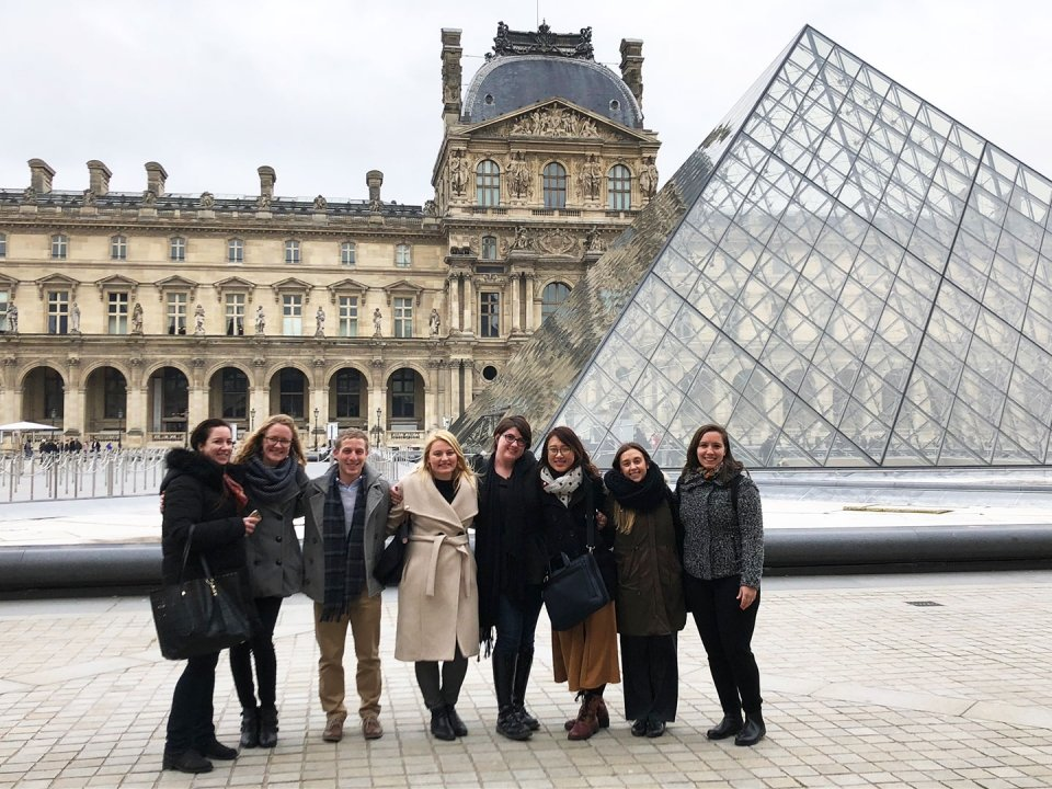Kelly Bohan and classmates at the Louvre in Paris
