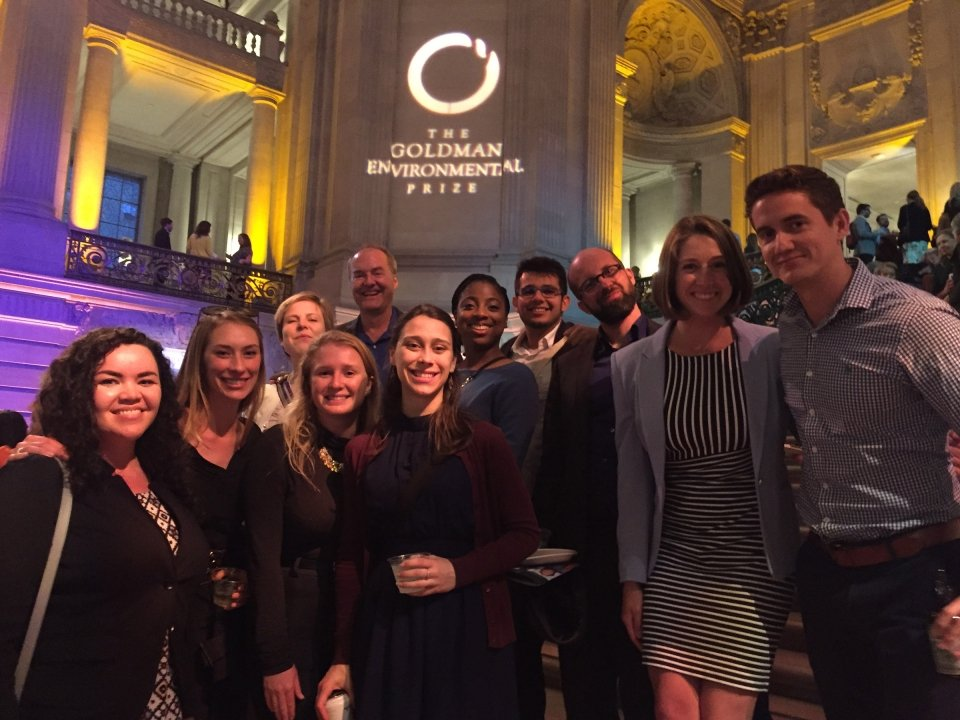 IEP Students at Goldman Environmental Prize Award Ceremony April 23, 2018