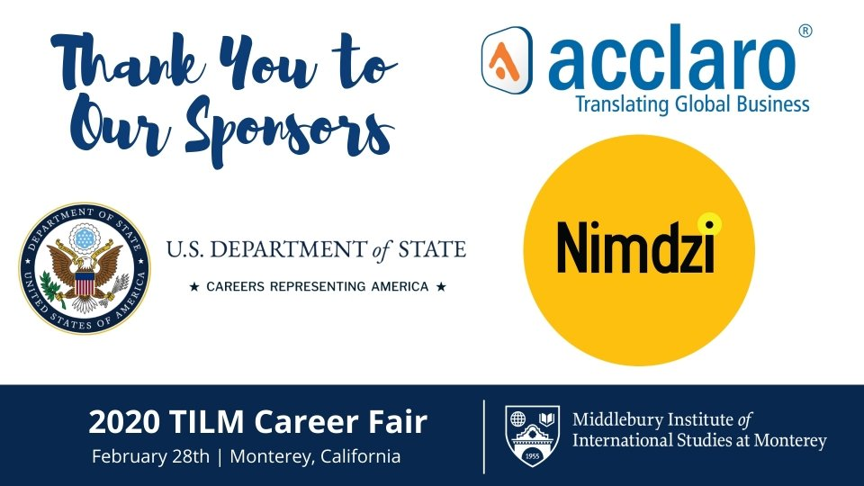 TILM Career Fair 2020 Sponsors