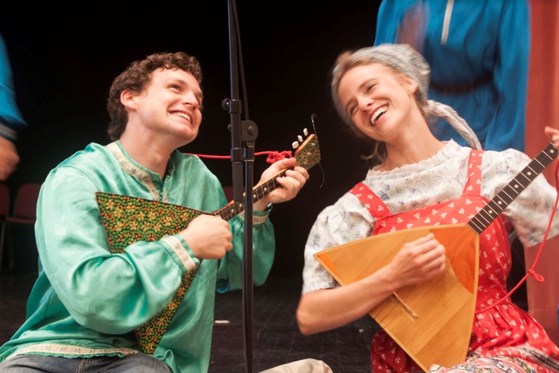 Students perform in the Russian Balalaikas.