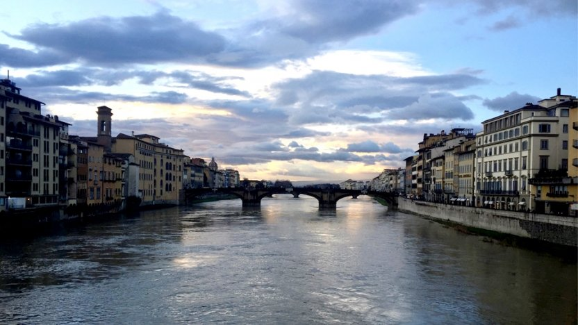 River running through the center of Florence.
