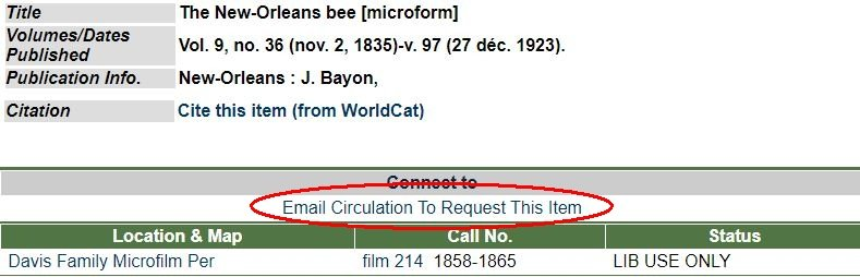 MIDCAT record for microform