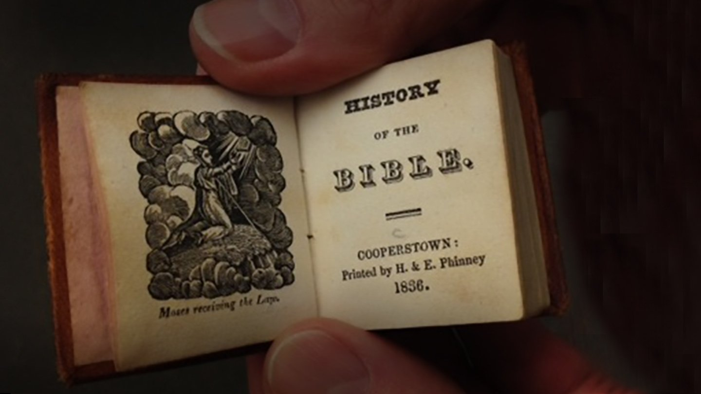 History of the Bible, published in Cooperstown, New York, in 1836