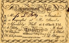 Invitation to the Commencement Ball of 1802