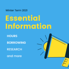 Winter Term 2021 Essential Information