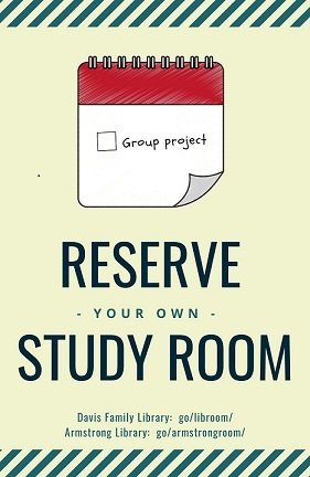 Reserve Your Own Study Room