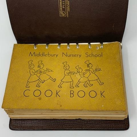 Cover of the Middlebury Nursery School Cook Book